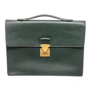 Louis Vuitton Green Leather Kourad Briefcase Bag